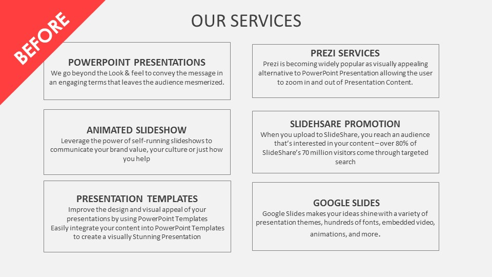 Powerpoint presentation before after series | POWERPOINT